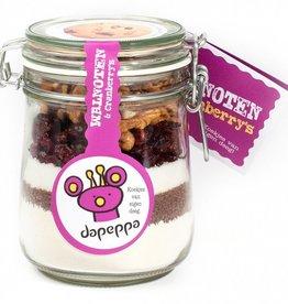 dapeppa Koekjespot Walnoot Cranberry