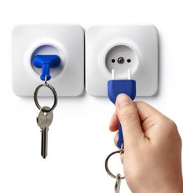 Qualy Unplug Key Ring - Blauw
