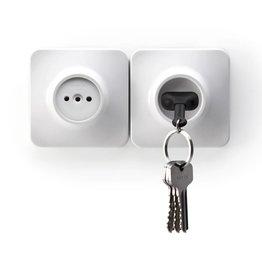 Qualy Unplug Key Ring - Zwart