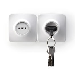 Unplug Key Ring - Zwart