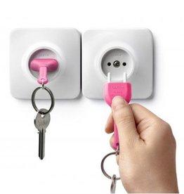 Qualy Unplug Key Ring - Roze