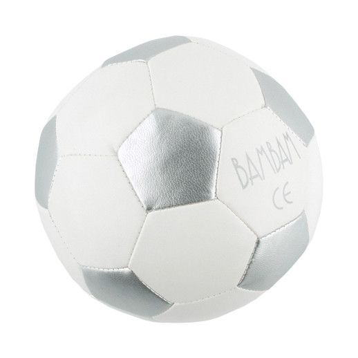 BAMBAM Voetbal Zilver Wit