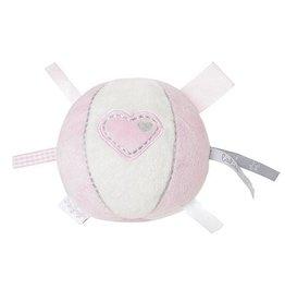BAMBAM Stoffen bal met hart roze