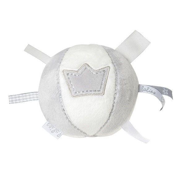 BAMBAM Stoffen bal met kroon grijs