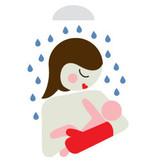 Baby Shower Glove Douchehandschoen Zeehond Grijs