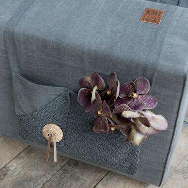 Knit Factory Pocket Gerstekorrel Lichtgrijs