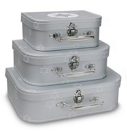 CARA CARO Koffer Zilver Ster L