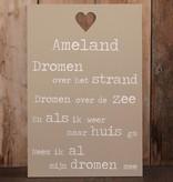 DDVM Tekstbord Ameland