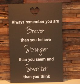 DDVM Tekstbord Braver, Stronger, Smarter