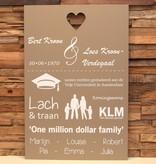 DDVM Tekstbord One million dollar family