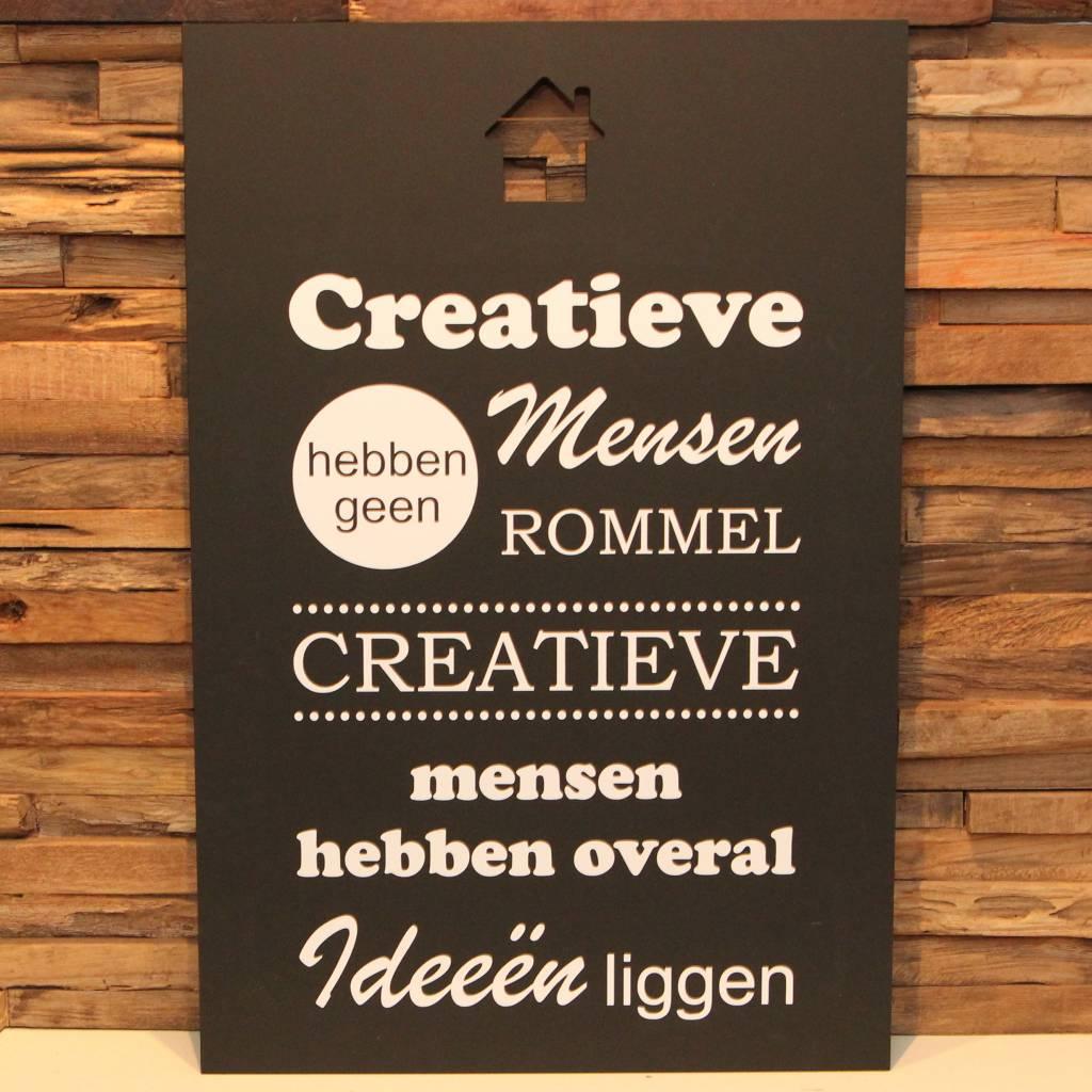 DDVM Tekstbord Creatieve Mensen