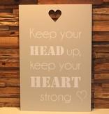 DDVM Tekstbord Heart Strong