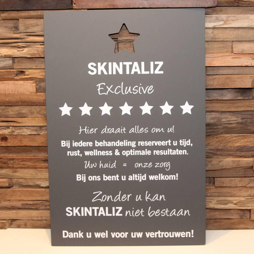 DDVM Tekstbord Skintaliz
