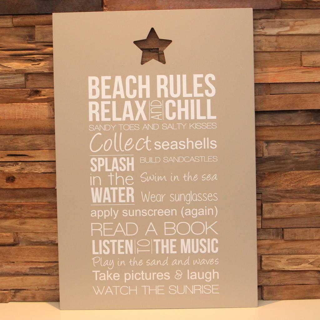 DDVM Tekstbord Beach Rules