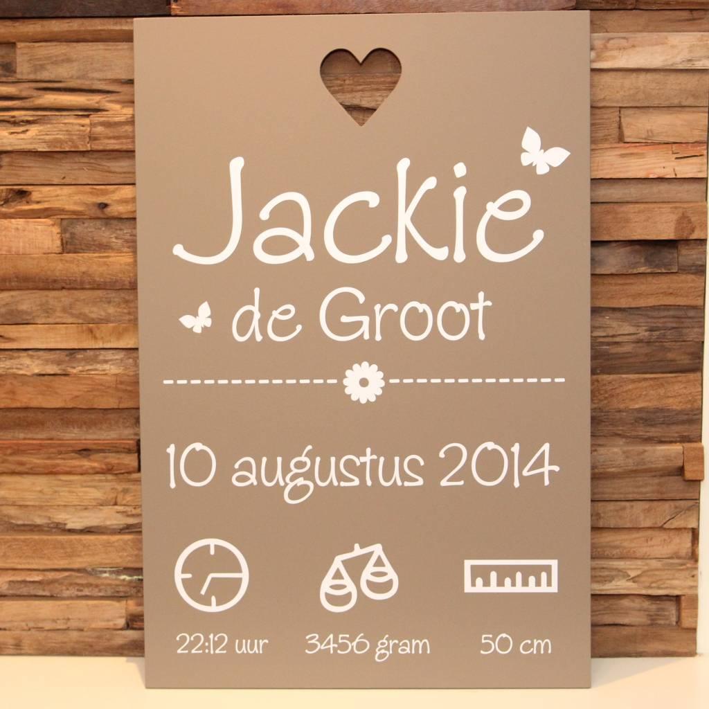 DDVM Geboortebord Jackie