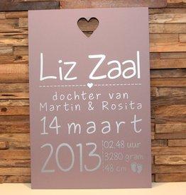 DDVM Geboortebord Liz Zaal