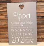 DDVM Geboortebord Pippa