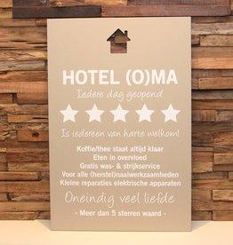 DDVM Tekstbord Hotel (O)ma