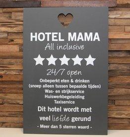 DDVM Tekstbord Hotel Mama