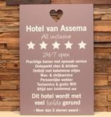 DDVM Tekstbord Hotel van Assema