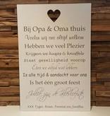 DDVM Tekstbord Bij Opa & Oma thuis