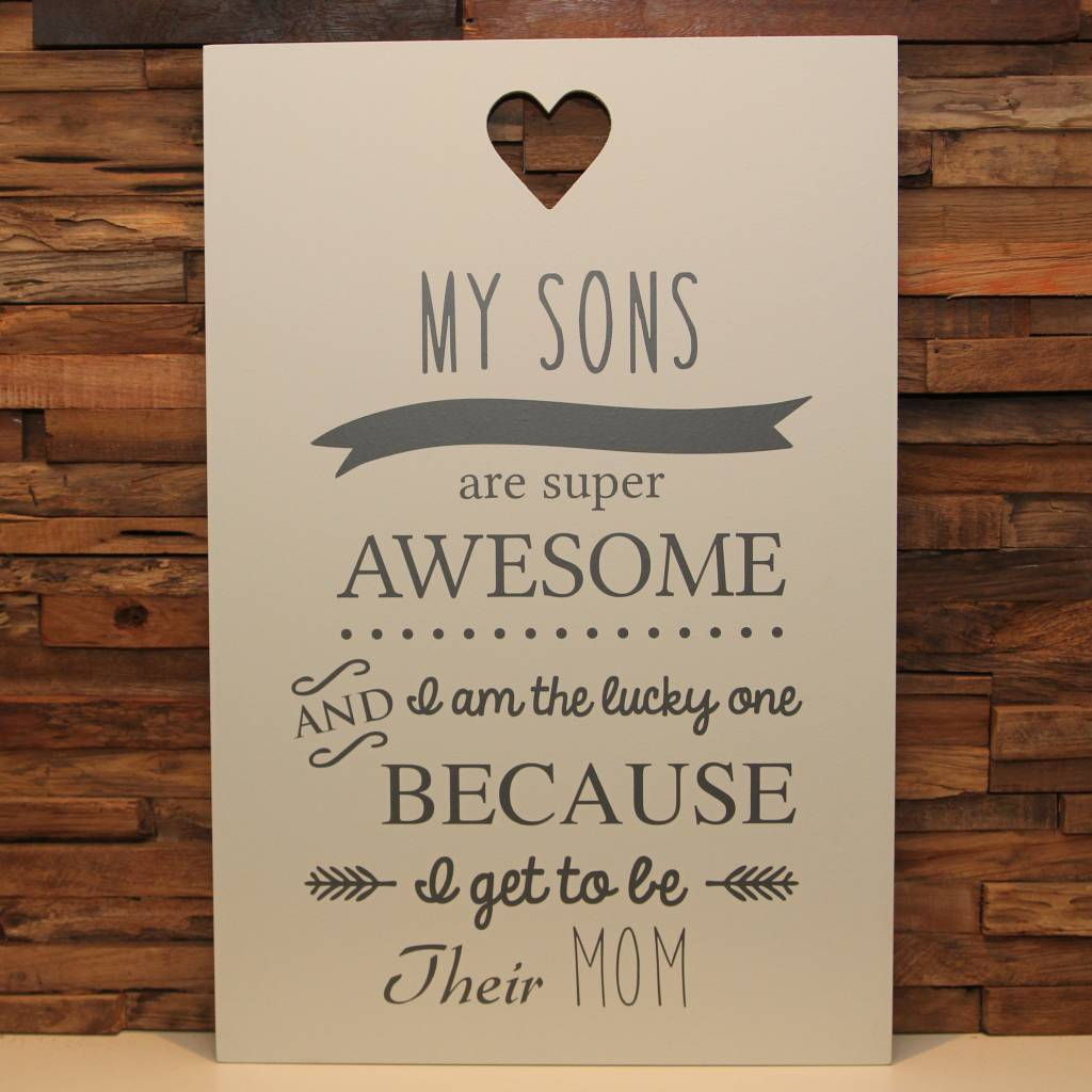 DDVM Tekstbord My Sons