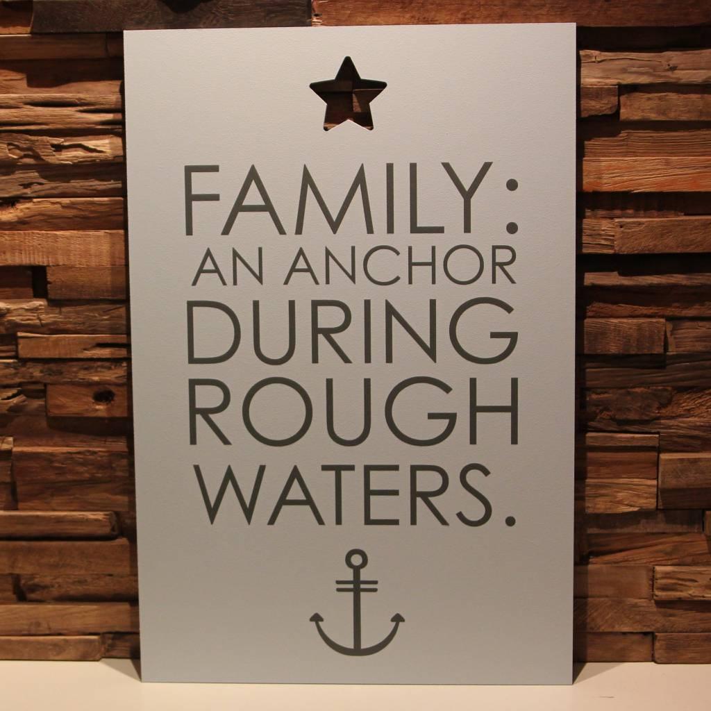 DDVM Tekstbord Family An Anchor
