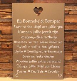 DDVM Tekstbord Bonneke & Bompa