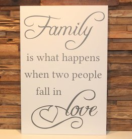DDVM Tekstbord Family Is What Happens