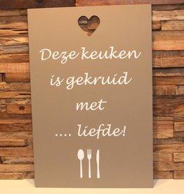 DDVM Tekstbord Deze Keuken
