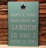DDVM Tekstbord Garden