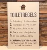 DDVM Tekstbord Toiletregels
