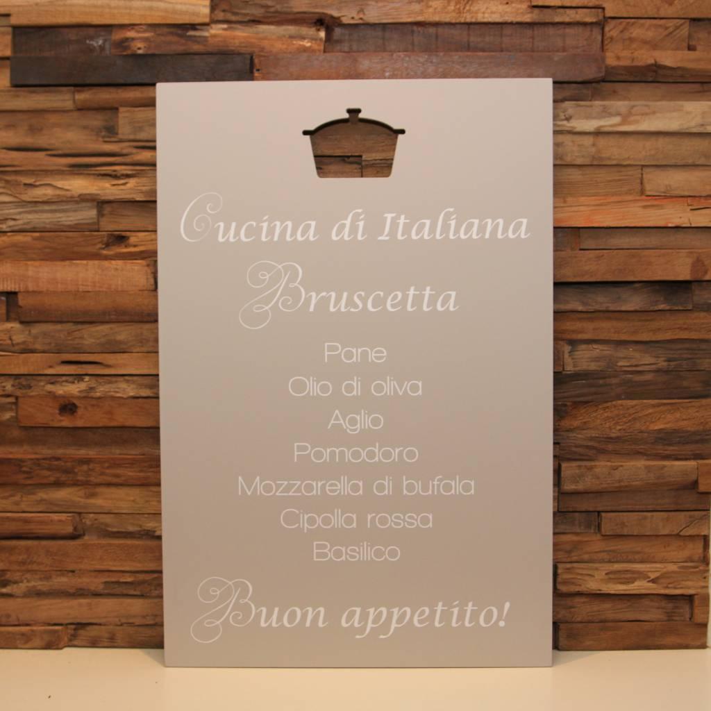 DDVM Tekstbord Cucina di Italiana