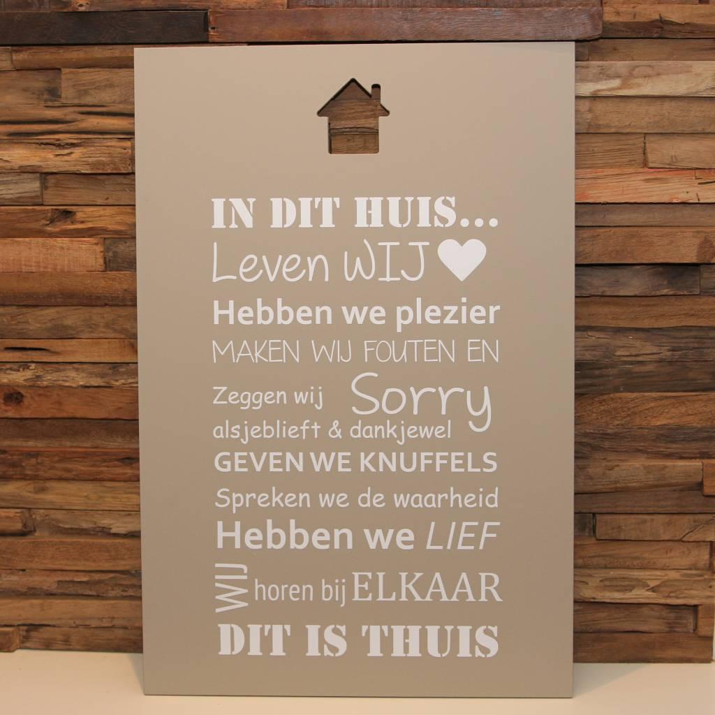DDVM Tekstbord In Dit Huis Bij Elkaar