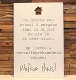 DDVM Tekstbord Welkom Thuis!