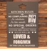 DDVM Tekstbord Kitchen Rules