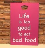 DDVM Tekstbord Bad Food