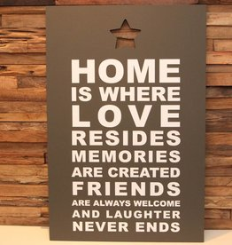 DDVM Tekstbord Home Is Where Love