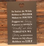 DDVM Tekstbord In Huize De Wilde