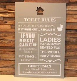 DDVM Tekstbord Toilet Rules