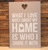 DDVM Tekstbord Home Is Who I Share