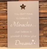 DDVM Tekstbord Miracles
