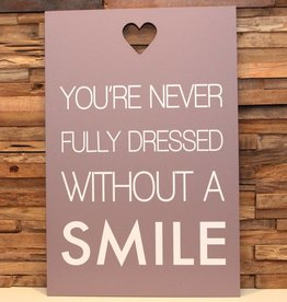 DDVM Tekstbord Smile