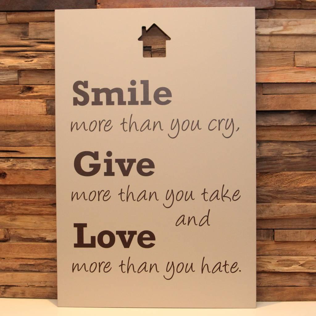 DDVM Tekstbord Smile Give Love