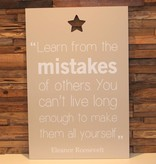 DDVM Tekstbord Learn From The Mistakes
