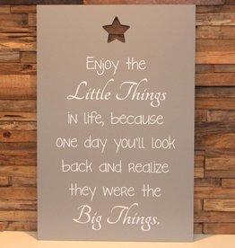 DDVM Tekstbord Enjoy the Little Things