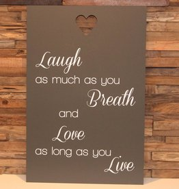 DDVM Tekstbord Laugh As Much