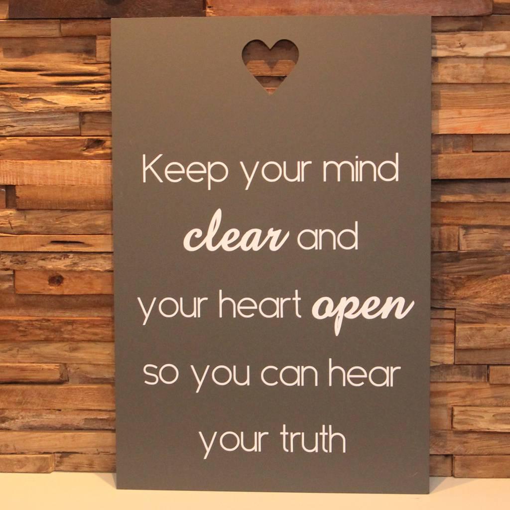 DDVM Tekstbord Keep Your Mind