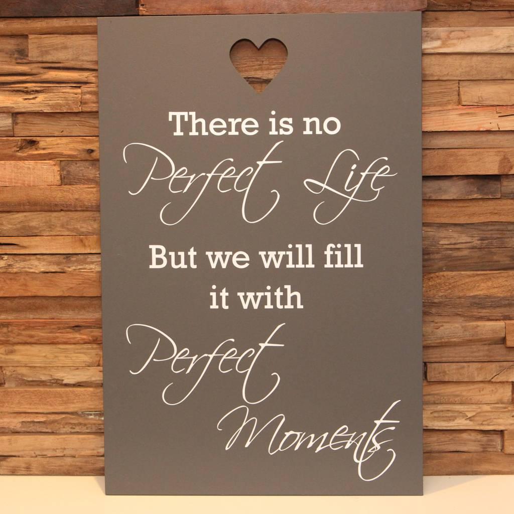 DDVM Tekstbord Perfect Life