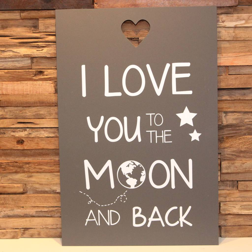 DDVM Tekstbord Love You To The Moon